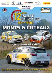 Règlement et engagement Rallye Monts & Coteaux 2021